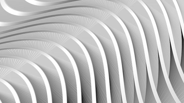 Abstrato cinzento com fluxo ondulado Foto Premium