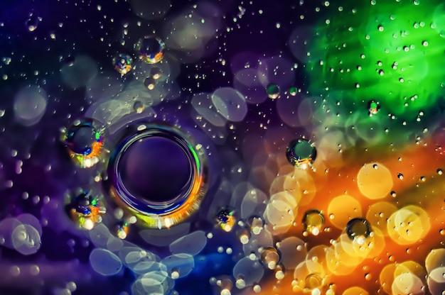 Abstrato. círculos coloridos em um fundo desfocado. Foto Premium