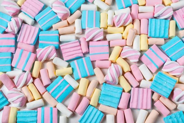 Abstrato com muitos marshmallows coloridos Foto Premium