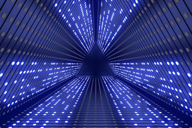Abstrato da cena de ficção científica. renderização em 3d. Foto Premium