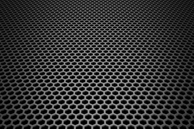 Abstrato de metal. renderização em 3d. Foto Premium