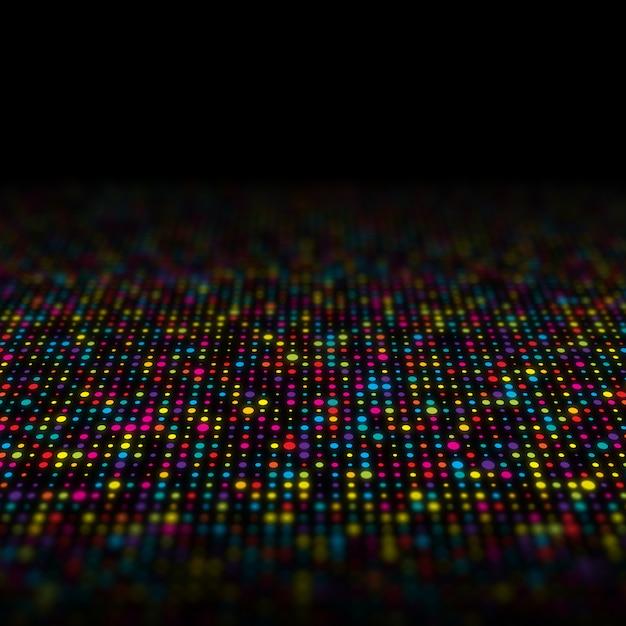 Abstrato de multi techno pontos coloridos Foto gratuita