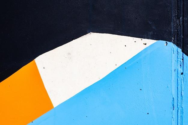 Abstrato pintado em uma parede com cores brancas e azuis. Foto Premium