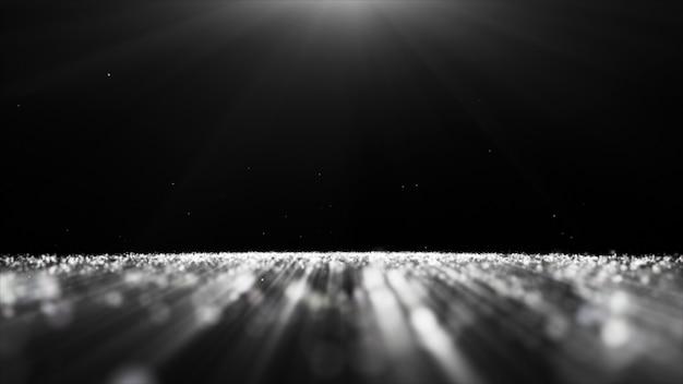 Abstrato preto e branco partícula brilho faíscas bokeh fundo Foto Premium
