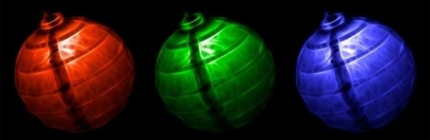 Abstrato rgb lanternas Foto gratuita