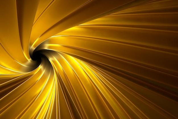 Abstrato volumétrico de ouro Foto Premium