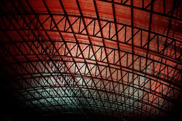 Abstratos, padrão, de, um, telhado Foto gratuita