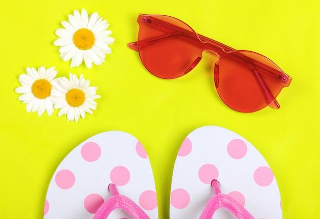 Acessórios de férias de verão Foto Premium