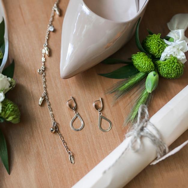 Acessórios de noiva Foto gratuita