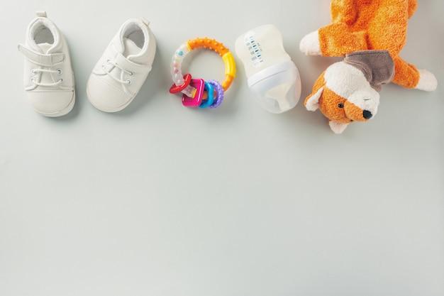 Acessórios para cuidados com o bebê plana leigos Foto Premium