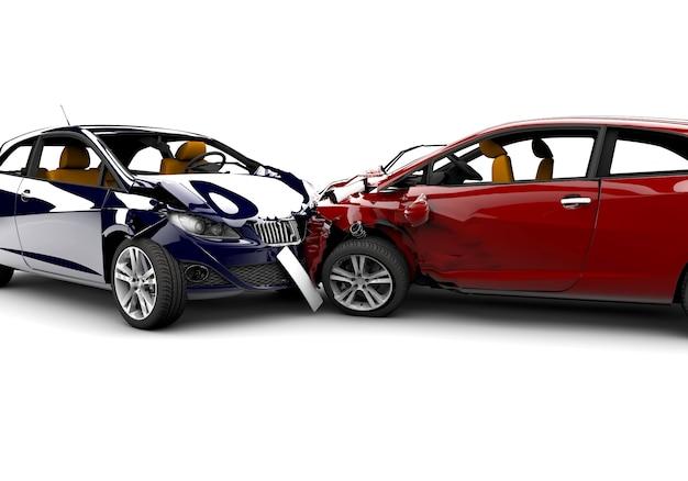 Acidente com dois carros Foto Premium