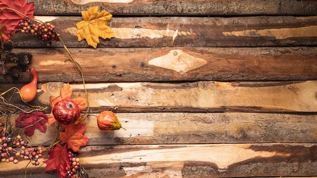 Acima de ver o quadro de comida outono com cópia-espaço Foto gratuita