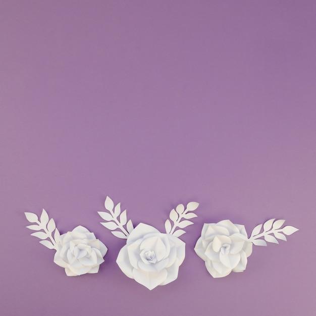 Acima vista decoração floral com cópia-espaço Foto gratuita