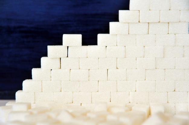 Açúcar de cana como pano de fundo Foto Premium