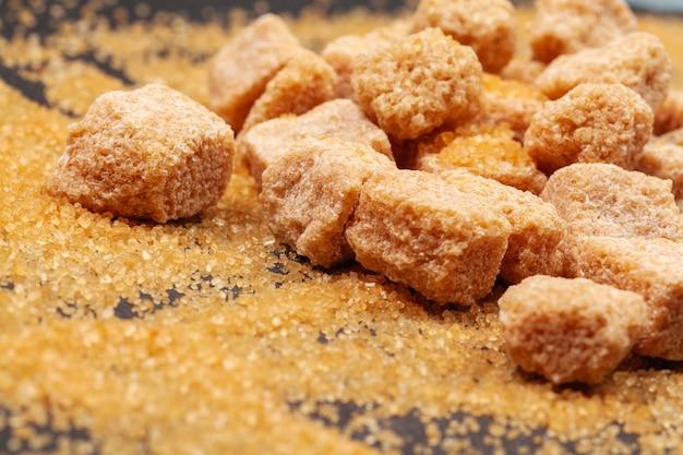 Açúcar de rocha close-up Foto Premium