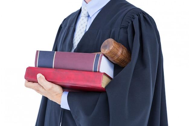 Advogado segurando balança da justiça Foto Premium