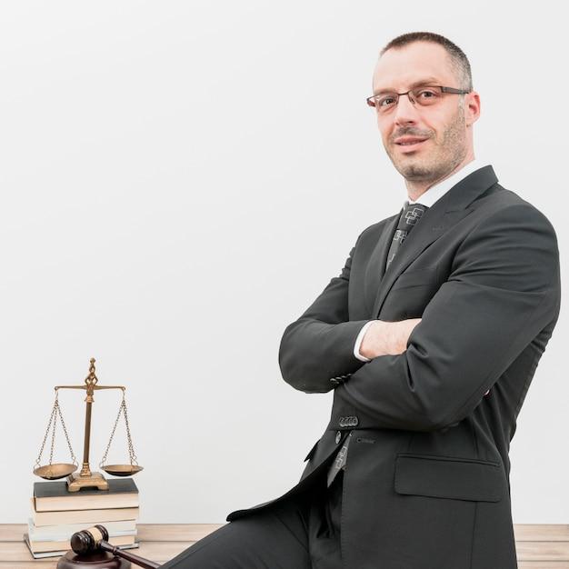 Advogado, sente-se Foto Premium