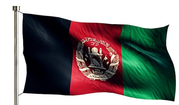 Afeganistão bandeira nacional isolado 3d fundo branco Foto gratuita