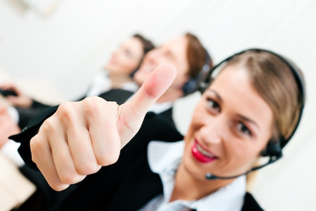 Agentes de call center Foto Premium