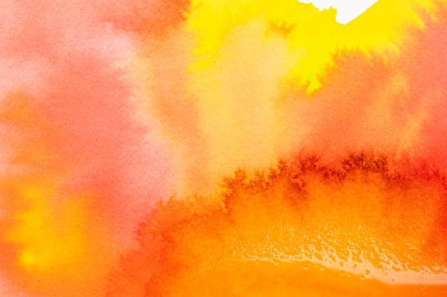 Aguarela abstrata criativa pintura colorida quente Foto gratuita