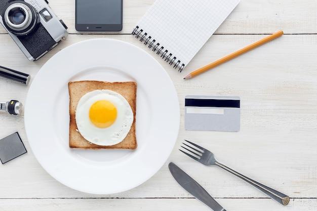 Ainda hipster perfeccionista de café da manhã Foto Premium