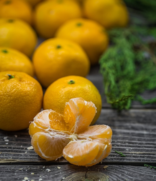 Ainda vida com tangerinas Foto gratuita