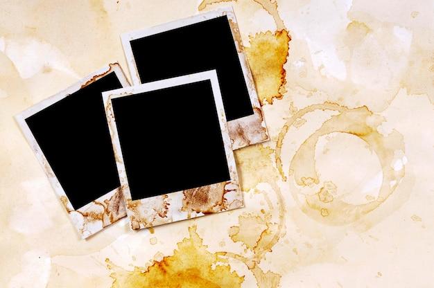 Álbum de foto velho com polaroids Foto gratuita