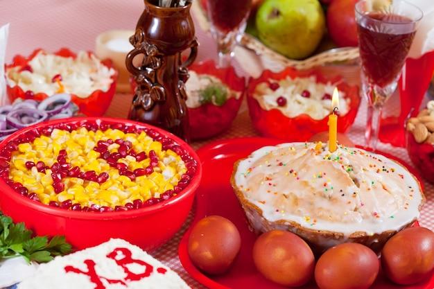 Alimentos de páscoa Foto gratuita