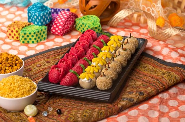 Alimentos doces secos Foto Premium