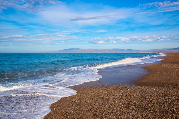 Almeria cabo de gata san miguel praia espanha Foto Premium