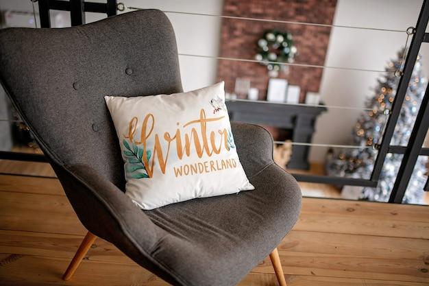 Almofada decorada de natal Foto Premium