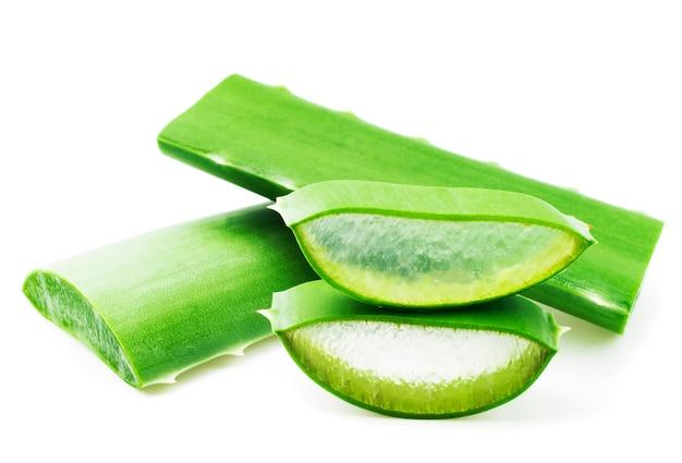Aloe vera picado fresco Foto Premium