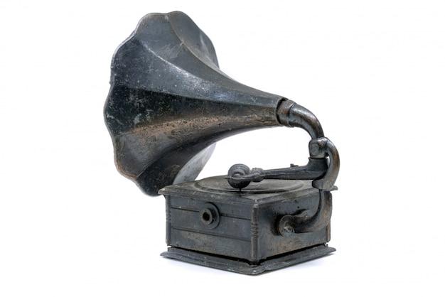 Alto-falante fonógrafo isolado no fundo branco Foto Premium