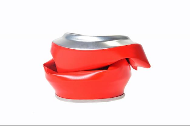 Alumínio vermelho pode achatado Foto Premium