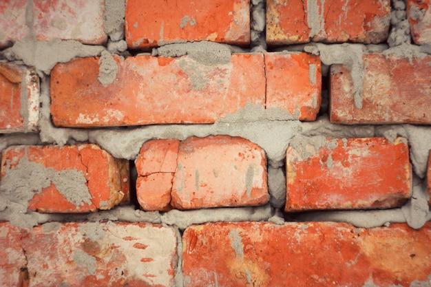 Alvenaria de tijolo com cimento Foto Premium