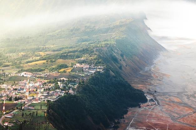 Amanhecer, em, vulcão, mt.bromo, (gunung, bromo), leste, java, indonésia Foto Premium