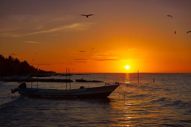 Amanhecer, yucatan, mexicano, americano, touristic, horizonte Foto Premium