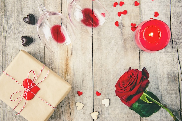 Amor de fundo e romântico. foco seletivo. amante Foto Premium