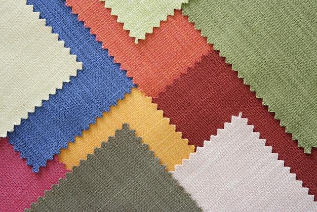 Amostras de textura de tecido de várias cores Foto gratuita
