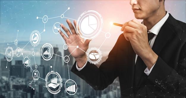 Análise de dados para o conceito de negócios e finanças Foto Premium