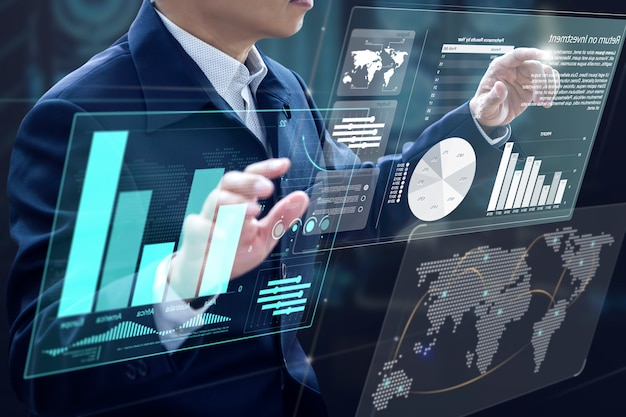 Análise de risco de investimento em negócios Foto Premium