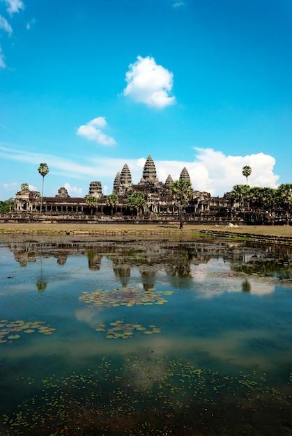 Angkor wat no camboja Foto Premium