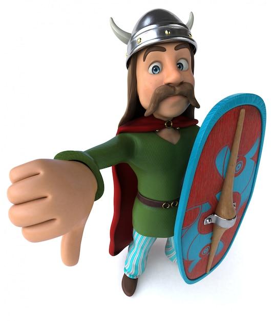 Animação de guerreiro da gália Foto Premium