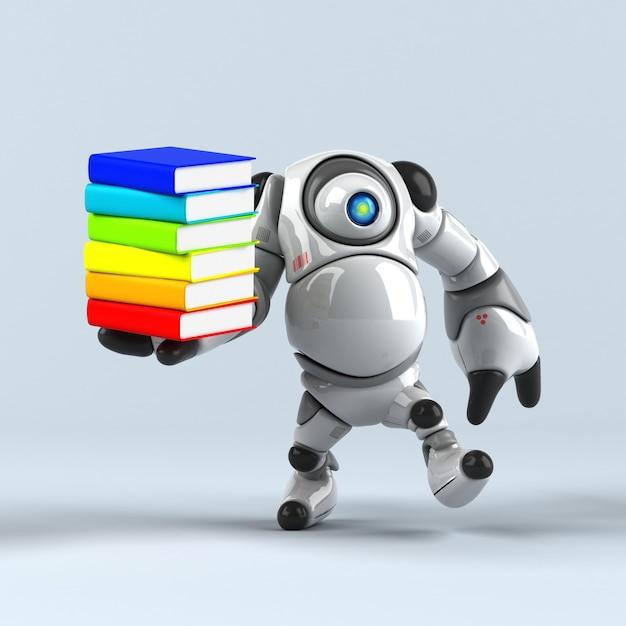 Animação de robô grande Foto Premium