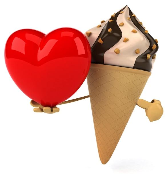Animação de sorvete Foto Premium