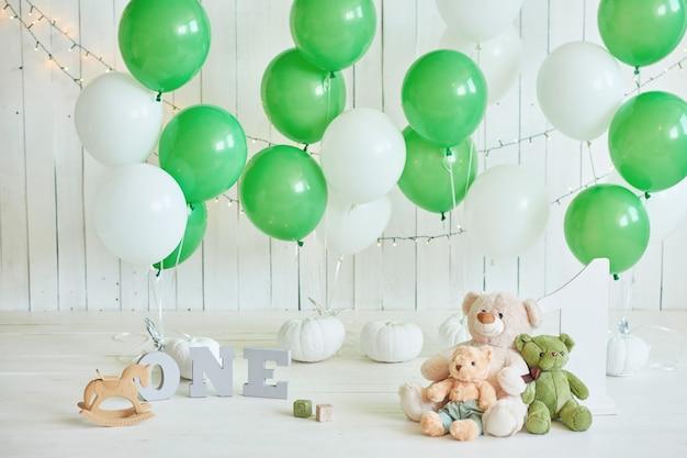 Aniversário 1 ano cake smash decor Foto Premium