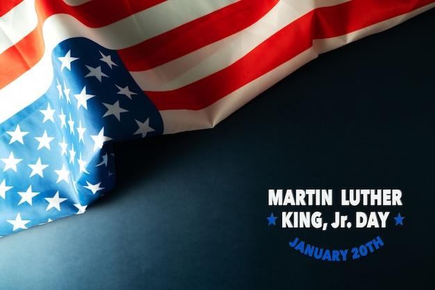 Aniversário de martin luther king day - abstrato bandeira americana Foto Premium