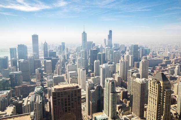 Antena de chicago Foto Premium