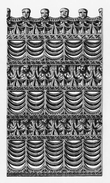Antiga ilustração da gramática do ornamento por owen jones Foto gratuita
