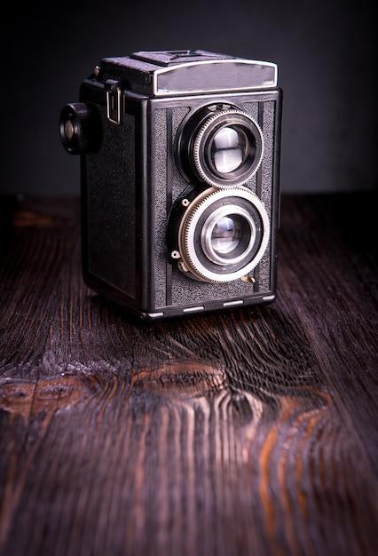 Antiga moda antiga câmera Foto Premium
